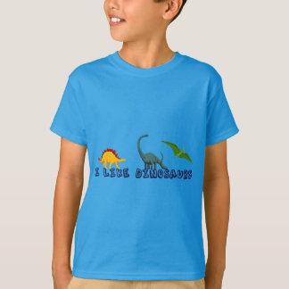 T-shirt J'aime des enfants de dinosaures