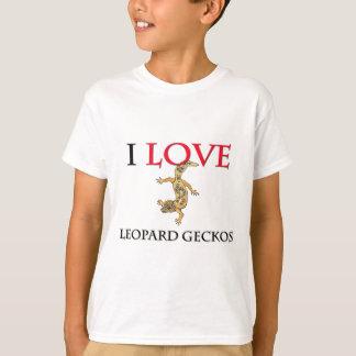 T-shirt J'aime des Geckos de léopard