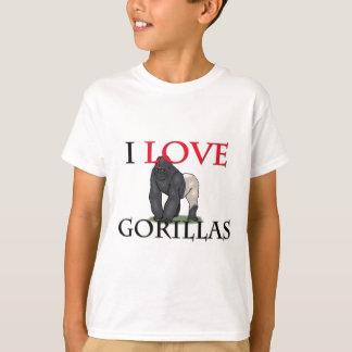 T-shirt J'aime des gorilles