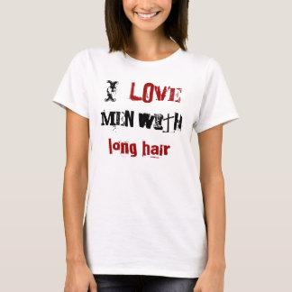 T-shirt J'aime des hommes avec de longs cheveux
