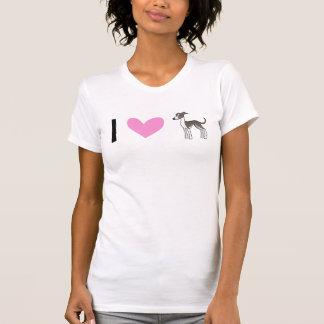 T-shirt J'aime des lévriers/whippets/lévriers italiens