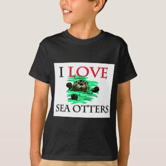 T-shirt J'aime des loutres de mer