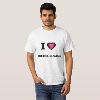 T-shirt J'aime des météorologistes