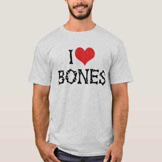 T-shirt J'aime des os de coeur - amant d'archéologie de
