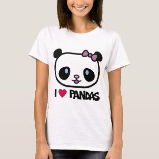 T-shirt J'aime des pandas
