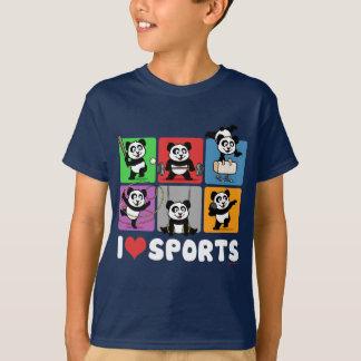 T-shirt J'aime des pandas de sports