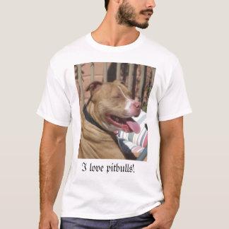 T-shirt J'aime des pitbulls !