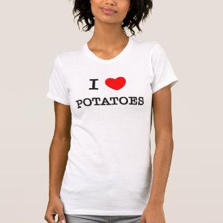T-shirt J'aime des POMMES DE TERRE (la nourriture)