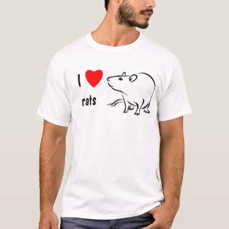 T-shirt J'aime des rats