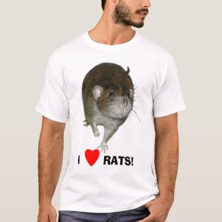T-shirt J'aime des rats !