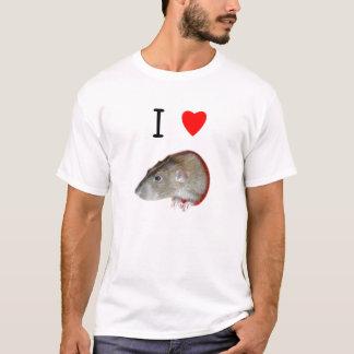 T-shirt J'aime des rats (d'abruti)