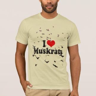 T-shirt J'aime des rats musqués