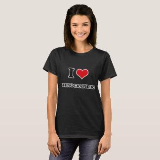 T-shirt J'aime des sténographes