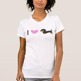 T-shirt J'aime des teckels (le manteau lisse)