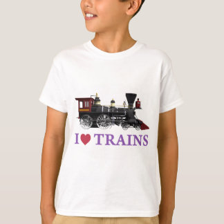 T-shirt J'aime des trains