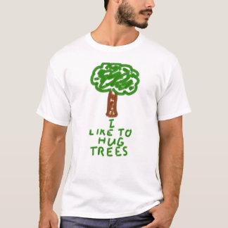 T-shirt J'aime étreindre des arbres