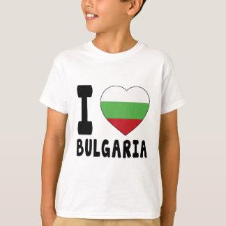 T-shirt J'aime la Bulgarie