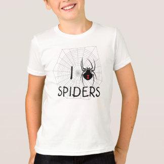 T-shirt J'aime la chemise d'araignées