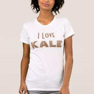 T-shirt J'aime la chemise de chou frisé