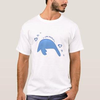 T-shirt J'aime la chemise de lamantins