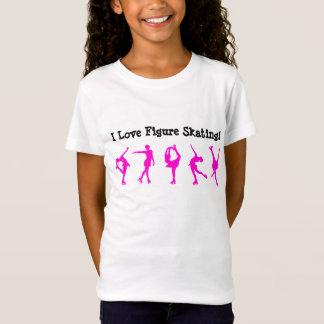 T-Shirt J'aime la chemise de patinage artistique -