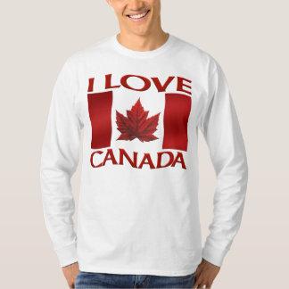 T-shirt J'aime la chemise de sports de souvenir du Canada