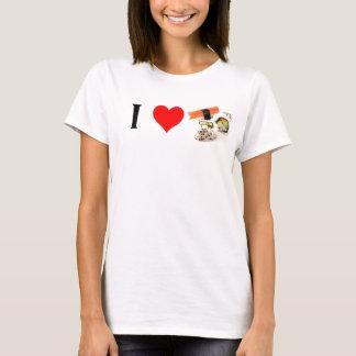 T-shirt J'aime la chemise de sushi