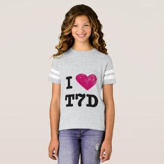 T-shirt J'aime la chemise de t7d