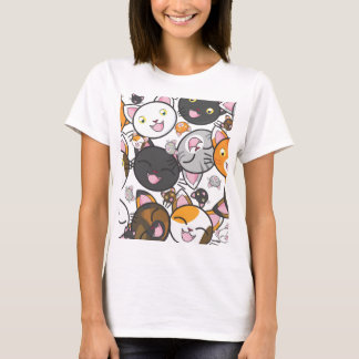 T-shirt J'aime la chemise décontractée des femmes de