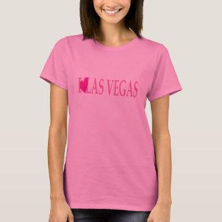 T-shirt J'AIME la chemise des femmes de Las Vegas