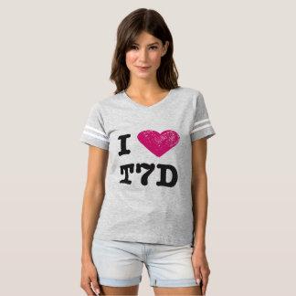 T-shirt J'aime la chemise du football de T7D