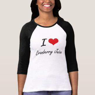 T-shirt J'aime la conception artistique de jus de
