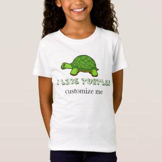 T-Shirt J'aime la coutume mignonne de tortues