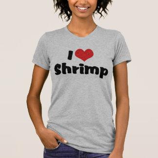 T-shirt J'aime la crevette de coeur - amant de fruits de