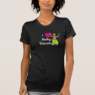 T-shirt J'aime la danse du ventre - coeur, danseur de