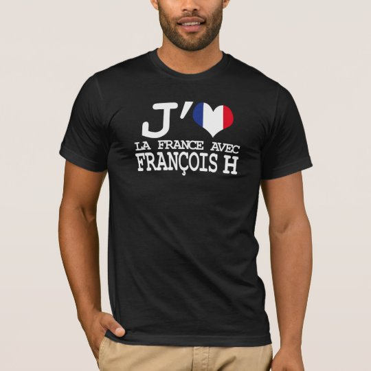 T-shirt J'aime la France avec François H
