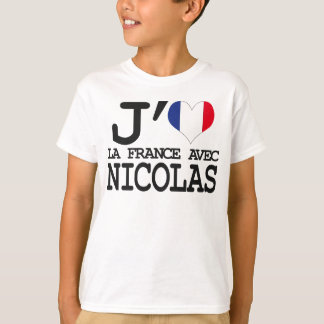 T-shirt J'aime la France avec Nicolas