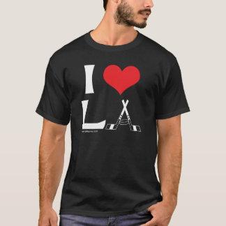 T-shirt J'aime la LA (le noir)