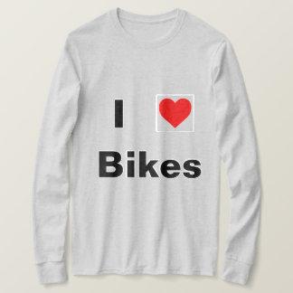 T-shirt J'aime la longue chemise de douille de vélos