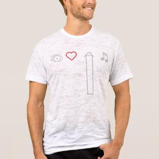 T-shirt J'aime la musique profonde de Chambre