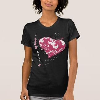 T-shirt j'aime la pièce en t de Jonas d'entaille