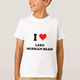 T-shirt J'aime la plage Michigan du lac Michigan