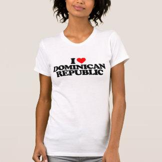T-SHIRT J'AIME LA RÉPUBLIQUE DOMINICAINE