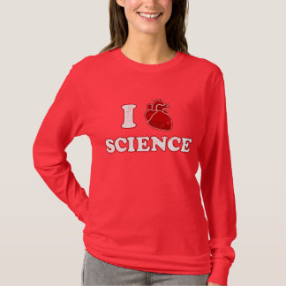 T-shirt j'aime la science/anatomie de coeur de la