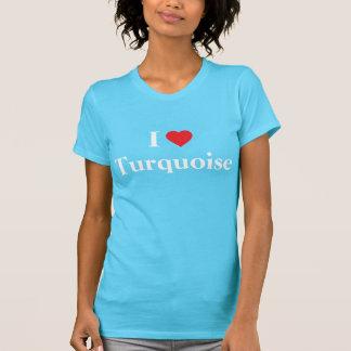 T-shirt J'aime la turquoise