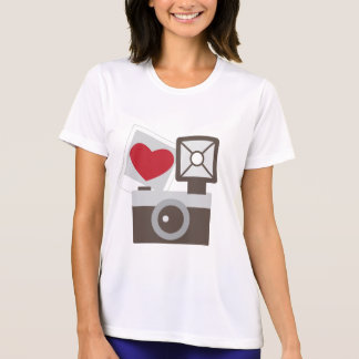 T-shirt J'aime l'appareil-photo vintage