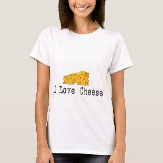T-shirt J'aime le bébé de dames de fromage - chemise de