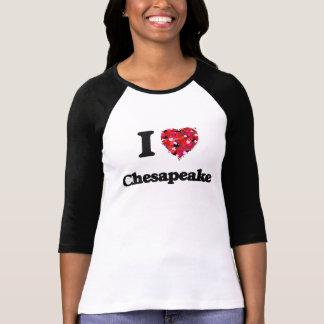 T-shirt J'aime le chesapeake la Virginie