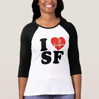T-shirt J'aime le coeur de pont de San Francisco