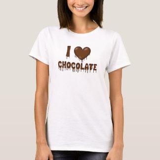 T-shirt J'aime le coeur d'égouttement et de fusion de